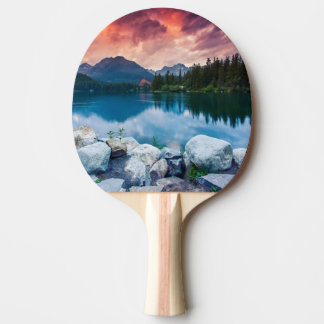 Mountain lake in National Park High Tatra 2 Ping Pong Paddle