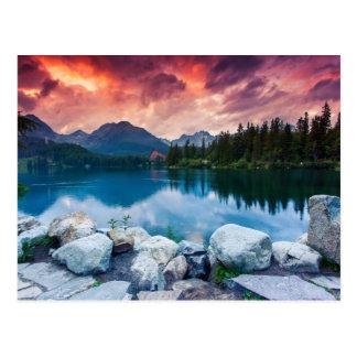 Mountain lake in National Park High Tatra 2 Postcard