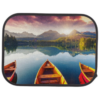 Mountain lake in National Park High Tatra 3 Car Mat
