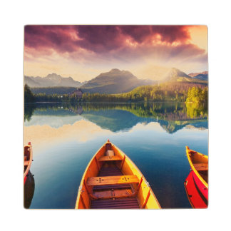 Mountain lake in National Park High Tatra 3 Wood Coaster