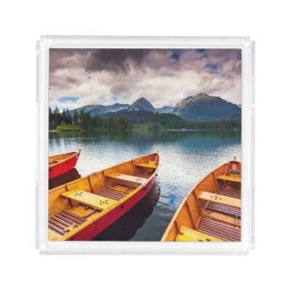 Mountain lake in National Park High Tatra Acrylic Tray