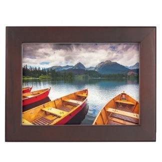 Mountain lake in National Park High Tatra Memory Boxes