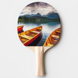 Mountain lake in National Park High Tatra Ping Pong Paddle