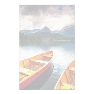 Mountain lake in National Park High Tatra Stationery
