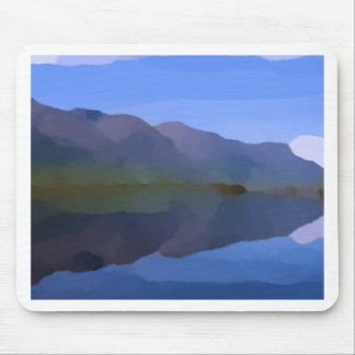 Mountain Lake Oil Painting Mouse Pad