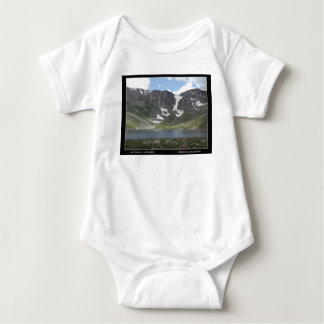 Mountain Lake on Mt. Evans in Colorado Baby Bodysuit