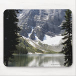 Mountain Lake Reflecting Mountain Framed By Trees Mouse Pad