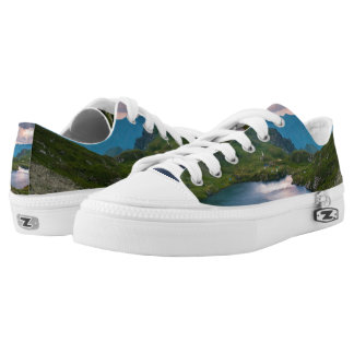 mountain lake shoes printed shoes