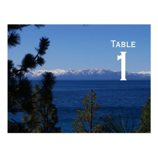 Mountain Lake Table Number Postcard