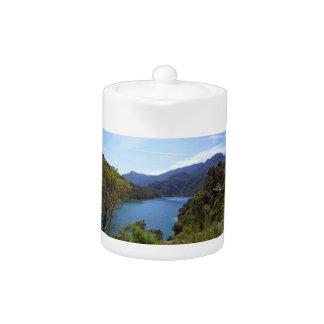 Mountain & Lake Tea Pot by IreneDesign2011