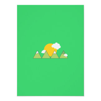 Mountain landscape 14 cm x 19 cm invitation card