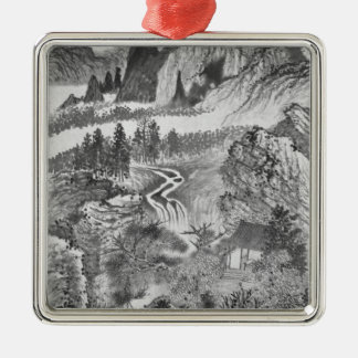 Mountain Landscape, after Huang Gongwang  1671 Christmas Ornament