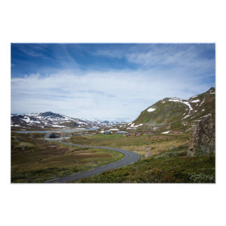 Mountain landscape in Norway Photographic Print