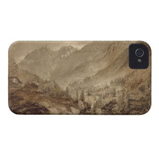 Mountain Landscape, Macugnaga, 1845 (pen & brown i iPhone 4 Cover