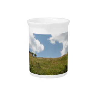 mountain landscape pitcher