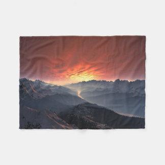 Mountain Landscape Small Fleece Blanket