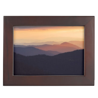 Mountain landscape with a fantastic sunset keepsake box