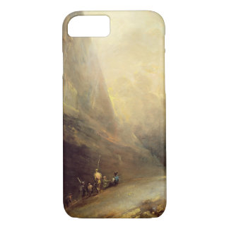 Mountain Landscape with Banditti, c.1780 (oil on c iPhone 8/7 Case