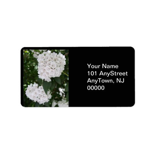 Mountain Laurel Floral Wedding Address Labels