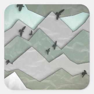 Mountain Layers II Square Sticker