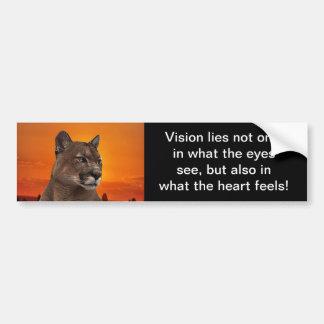 Mountain lion at sunset car bumper sticker