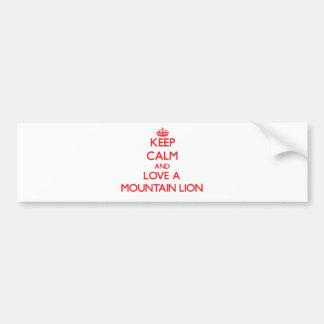 Mountain Lion Bumper Stickers