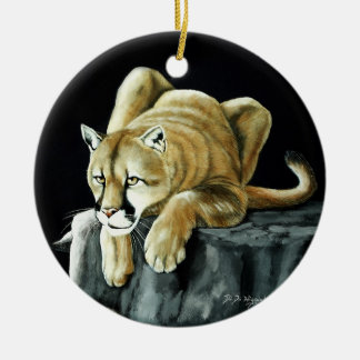 Mountain Lion Christmas Ornament