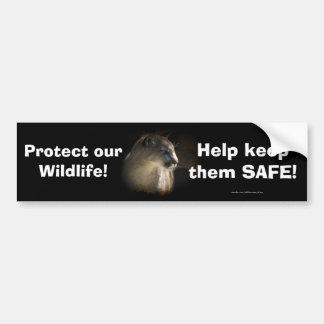 Mountain Lion Cougar Wildlife-lovers Bumpersticker Bumper Sticker