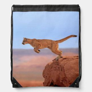 Mountain Lion Drawstring Bag