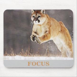 """Mountain Lion """"Focus"""" Mouse Pad"""