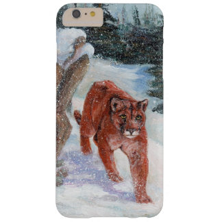 Mountain lion in snow barely there iPhone 6 plus case