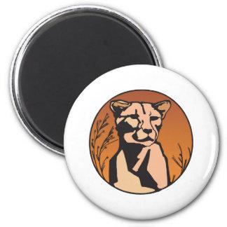 mountain lion lioness refrigerator magnet