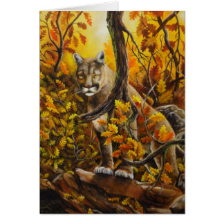 Mountain Lion painting on customizable products Greeting Card