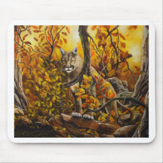 Mountain Lion painting on customizable products Mouse Pad