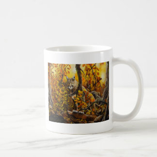 Mountain Lion painting on customizable products Classic White Coffee Mug
