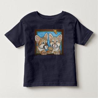 Mountain Lion Puma Cat Cubs Art T Shirt Cute