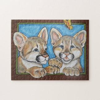 Mountain Lion Puma Cub Cute Jigsaw Puzzle