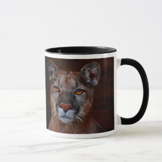 Mountain lion puma mug