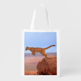 Mountain Lion Reusable Grocery Bag
