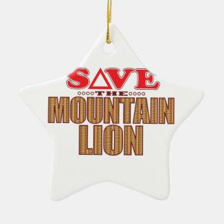 Mountain Lion Save Christmas Ornament