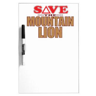 Mountain Lion Save Dry Erase Board