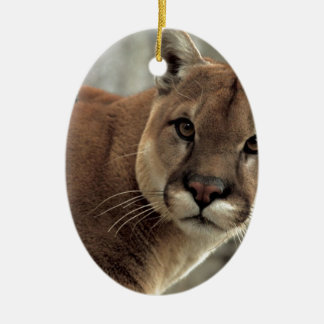 Mountain Lion Striking a Pose Christmas Ornament