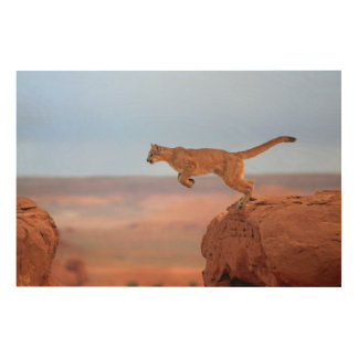 Mountain Lion Wood Wall Decor