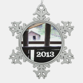 Mountain Living • Montana Snowflake Pewter Christmas Ornament