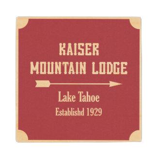 Mountain Lodge   Arrow Maple Wood Coaster