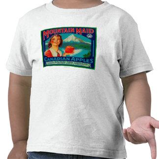 Mountain Maid Apple LabelCanada T Shirt
