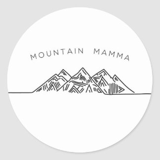 Mountain Mamma Classic Round Sticker