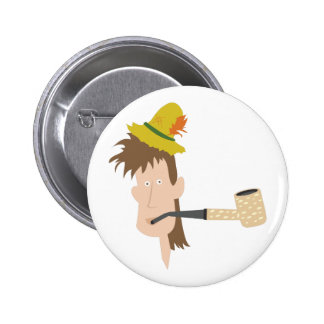 Mountain Man 6 Cm Round Badge