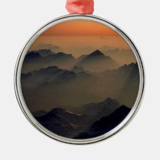 Mountain Misty Peaks Alps Austria Ornaments