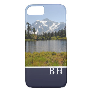 Mountain Monogramed iPhone 7 Case Template